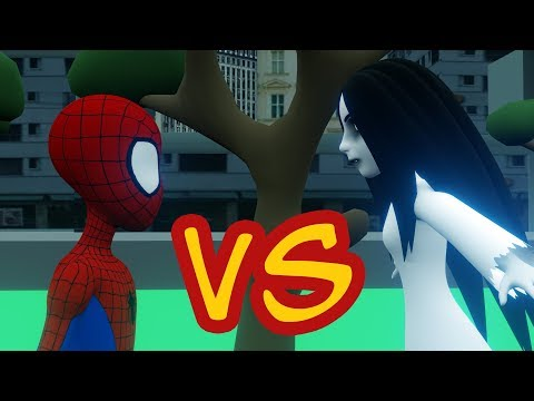 kartun horor lucu - Kuntilanak VS Spiderman