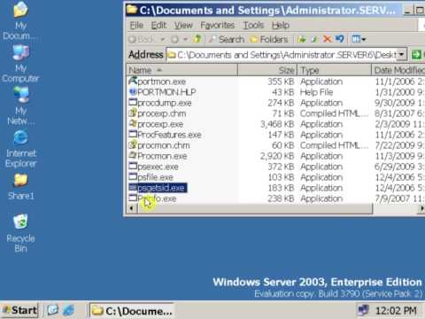 27 How To Check Security Id (sid) In Windows Server 2003 Or XP