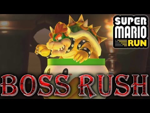 Super Mario Run - All Boss Levels & Ending (No Damage, Android)