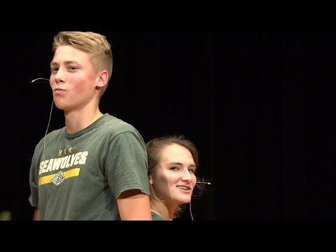 Isaiah Lenz and Kaitlyn Gehler - Cucumber Song - Talent Show 2017