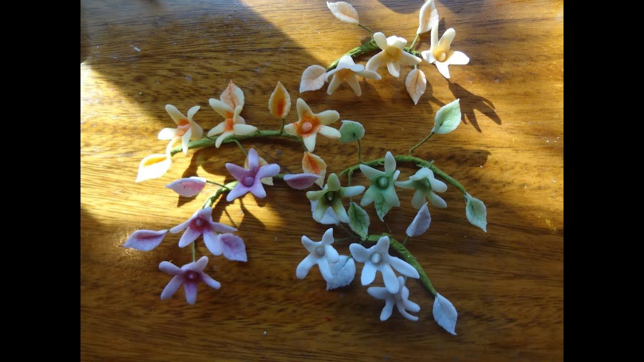 Flores en Porcelana Fria  How to make flowers in polymer