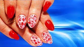 видео Дизайн ногтей красных цветов