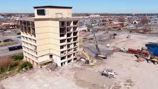 Hampton, VA:  Hotel High Reach Demolition - East Coast Demo