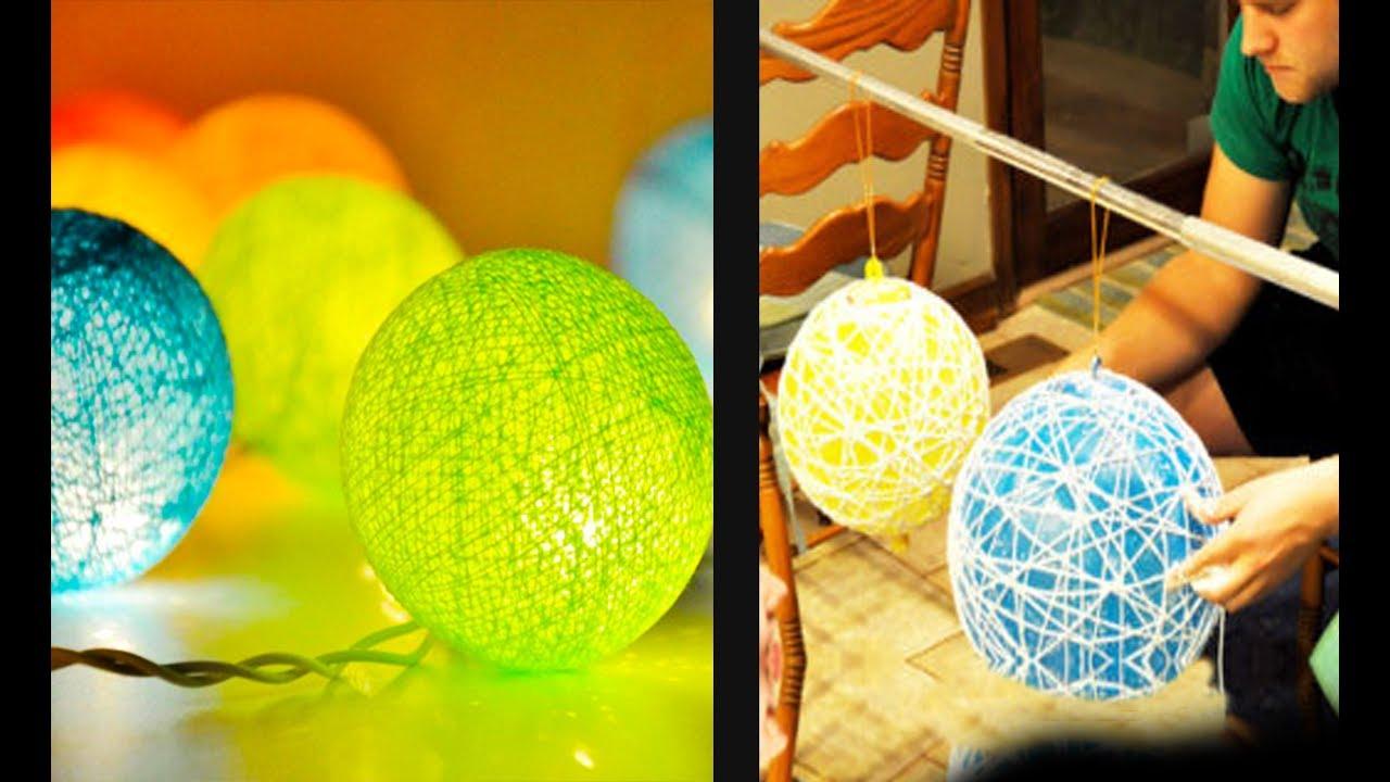 Bahan Gambar Lampu Animasi Lampu Lampion Dari Benang Dan Balon Youtube