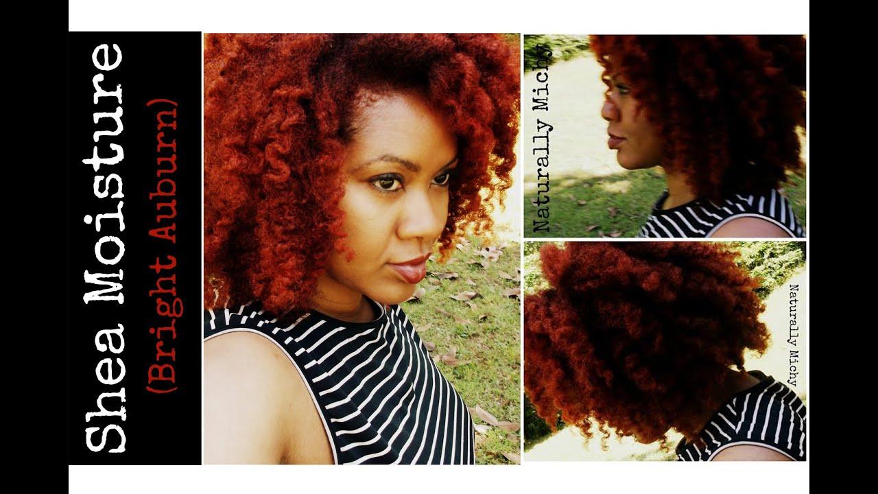 Shea Moisture Hair Color System Bright Auburn Naturally Michy