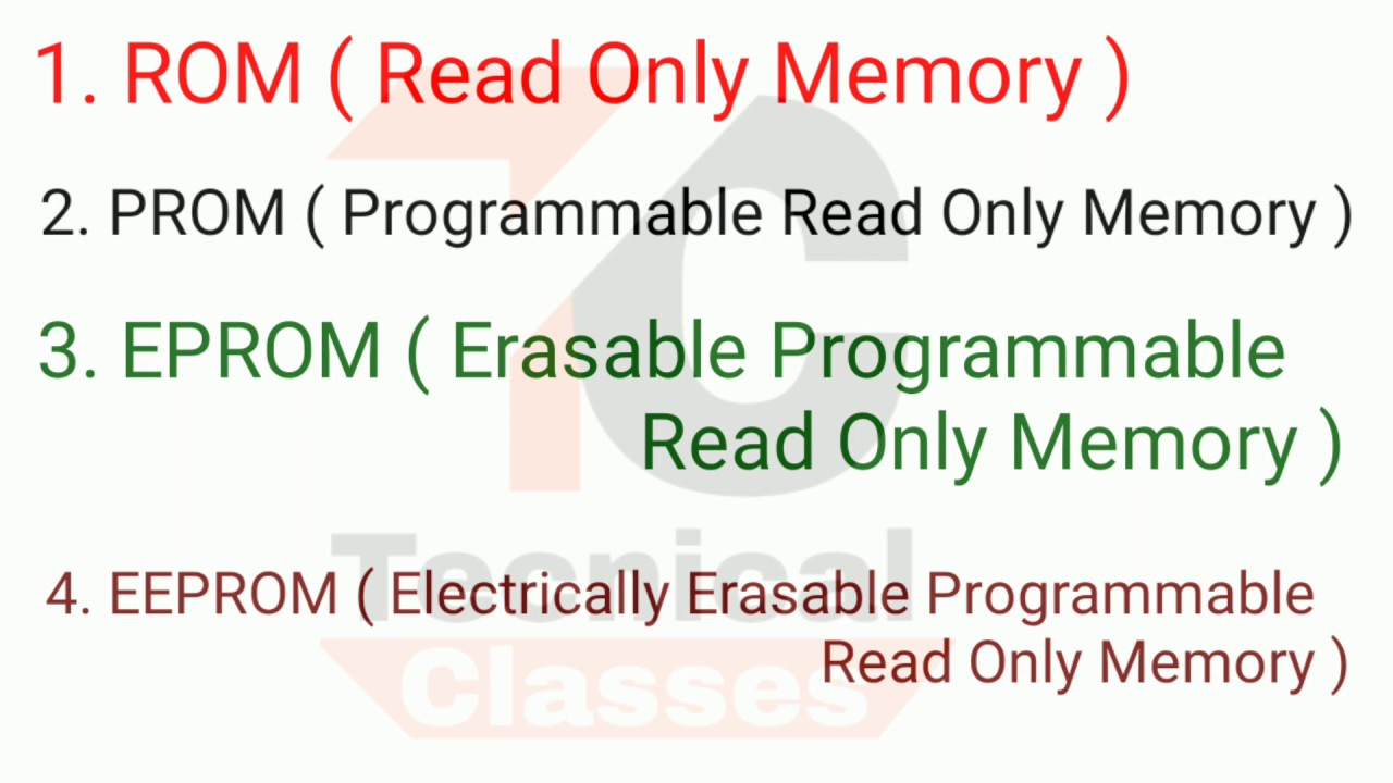 What is rom , what is ROM ,PROM , EPROM , EEPROM