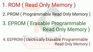 What is rom , what is ROM ,PROM , EPROM , EEPROM .