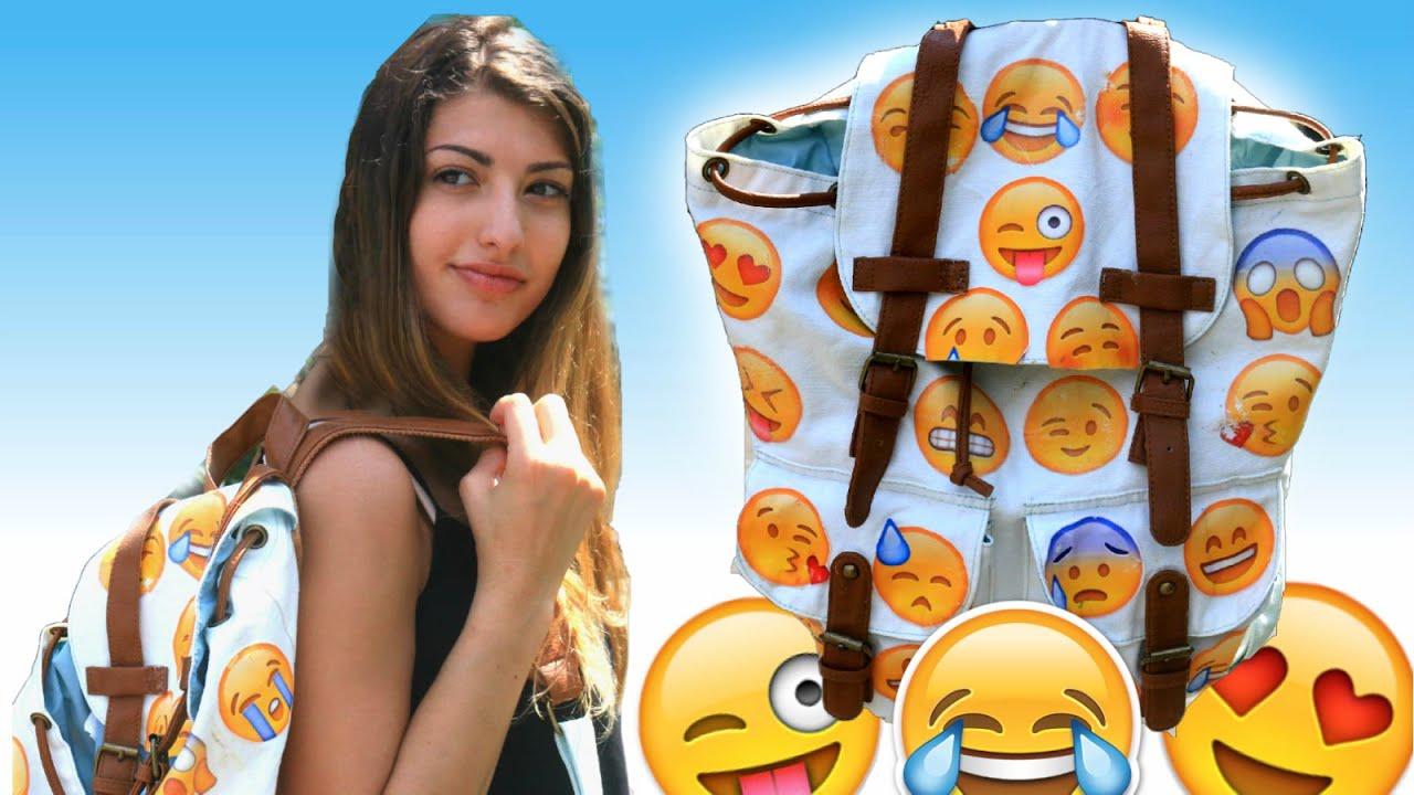DIY Emoji Backpack! - YouTube
