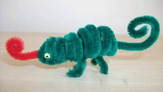 How to make a pipe cleaner chameleon