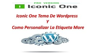 видео Iconic One | Шаблоны WordPress