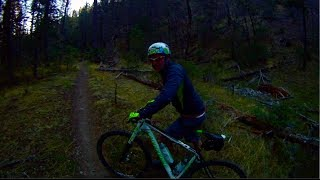 Mountain biking in Ruidoso NM, Perk canyon trail,