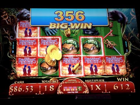 Princess Bride - WMS - BIG WIN! Fire Swamp Slot Machine Bonus 5¢ - 동영상
