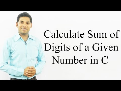 Program to Calculate Sum of Digits of a Given Number in C (HINDI)