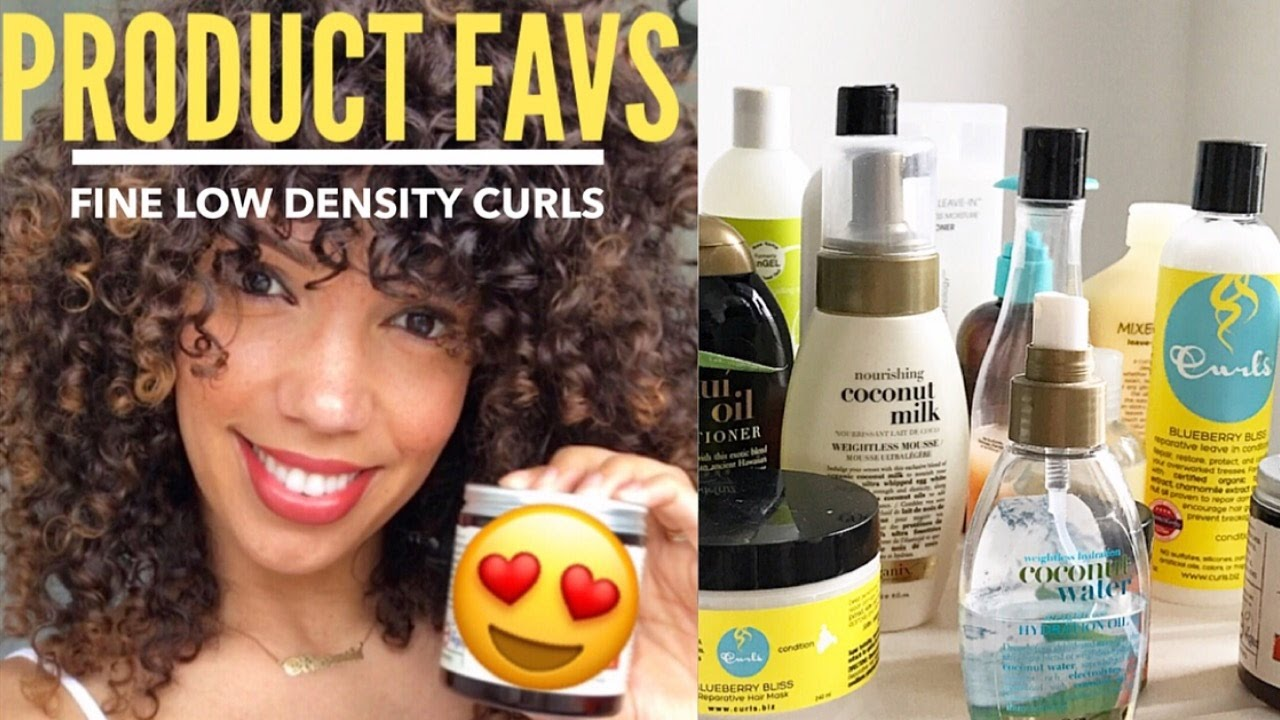 THE BEST CURLY HAIR PRODUCTS FOR FINE LOW DENSITY CURLS YouTube