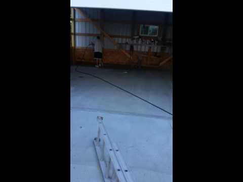 Garage floor epoxy Part 1