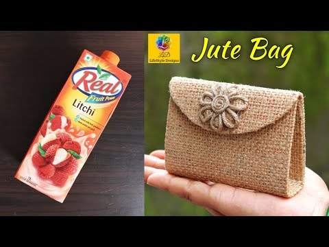 How to Make Handmade Ladies Mini Purse with Jute | DIY Purse Making | Ladies Mini Bag with Jute Rope