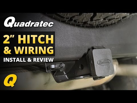 jeep wrangler hitch \u0026 trailer wiring harness install \u0026 review for 2013 Jeep Wrangler Chrome Accessories