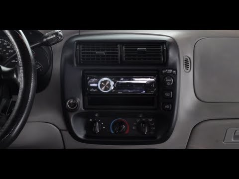 Basic installation of an aftermarket stereo into a Ford vehicle