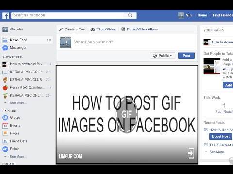 how to post gif images on facebook 2017 youtube