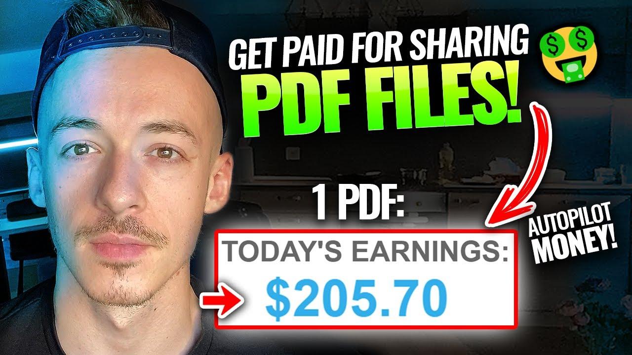 Make Money Online Sharing PDF Files ($200+ Per PDF!) | Make Money Online For Beginners 2021