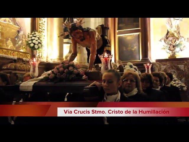 Vídeo Noticia: Vía Crucis del Cristo de la Humillación. Cuaresma. Lucena, 2016