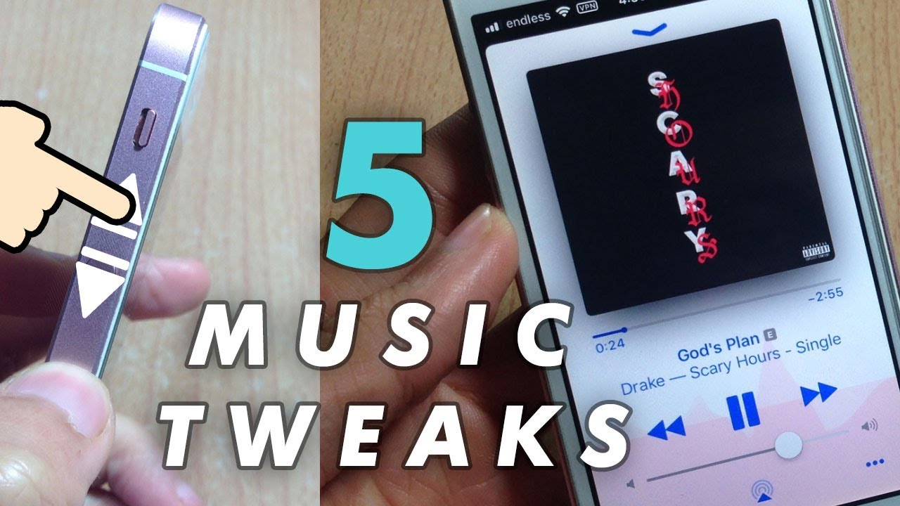 Top 5 MUSIC Tweaks - iOS 11 / 11 4 1