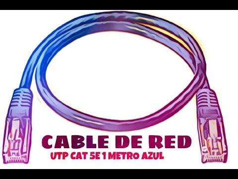 Video de Cable de red UTP CAT5E 1 M Azul