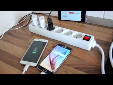 Samsung Galaxy S6 скорость зарядки, Akku % in 15  - 30 - 60 min (+ Sony Xperia Z2)