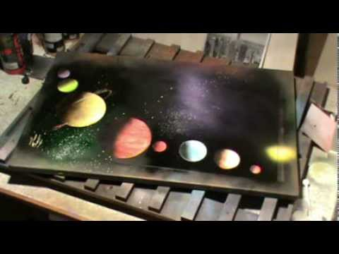 solar system wall painting pinterest - photo #39