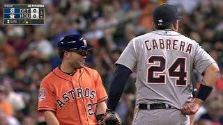 Altuve, Cabrera untuck each other