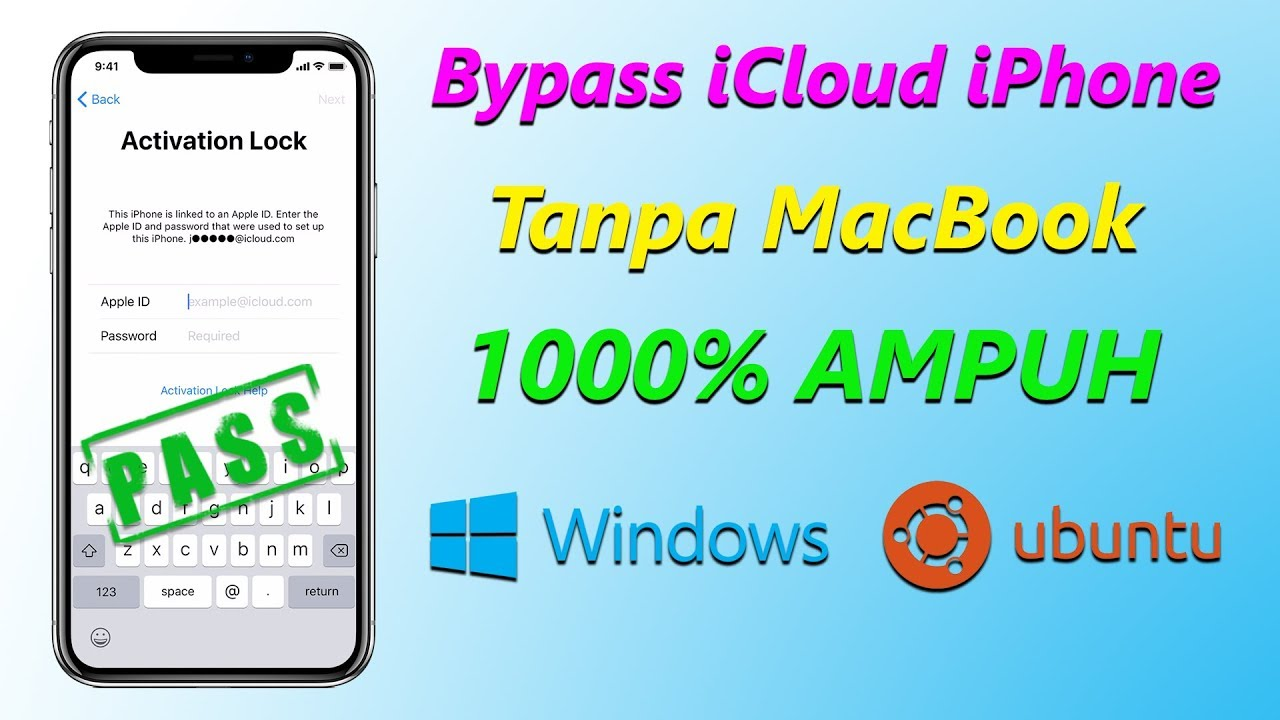 Cara Bypass Icloud Iphone Dengan Windows Pc Dan Ubuntu Linux Tanpa Macbook Ra1nstorm Full Tutorial Youtube