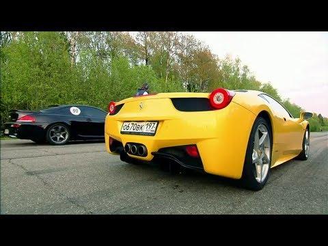 BMW M6 vs Ferrari 458 Italia vs Nissan GT-R AMS