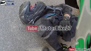 (Motor)Bike Motorcycle accident live on camera