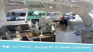 2015 Horizon PC52 Power Catamaran: First Look Video