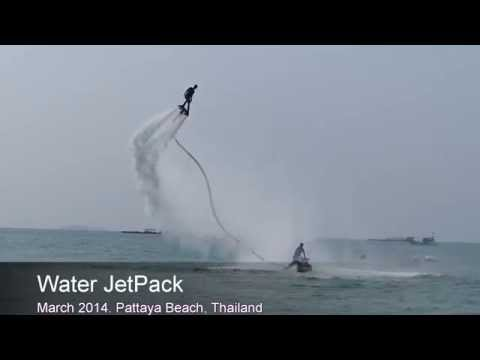 Water Jetpack, Jet flyer, Fly Board, Hover Board, Pattaya Beach, Thailand