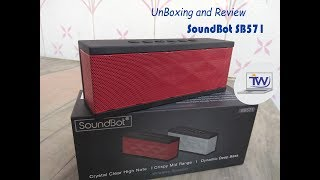 Portable Bluetooth speaker | SoundBot SB571 unboxing and review