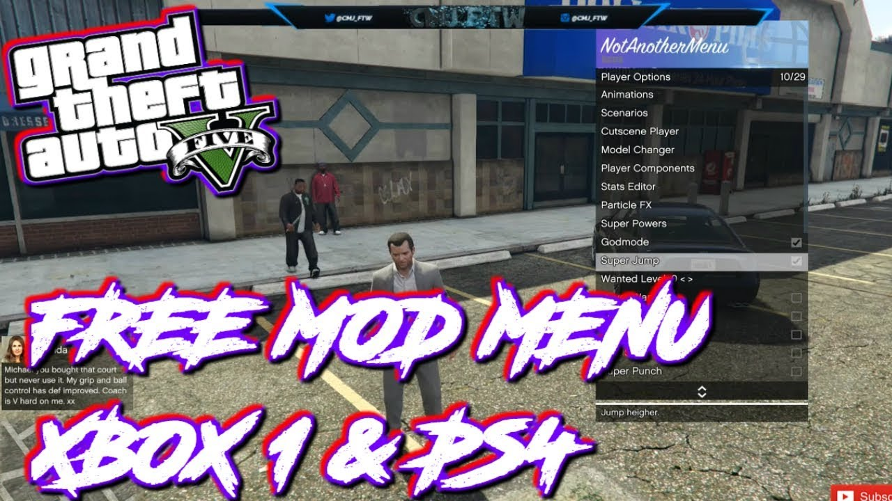 GTA 5: How To Install Mod Menu On Xbox One & PS4! + Download @cmj_ftw