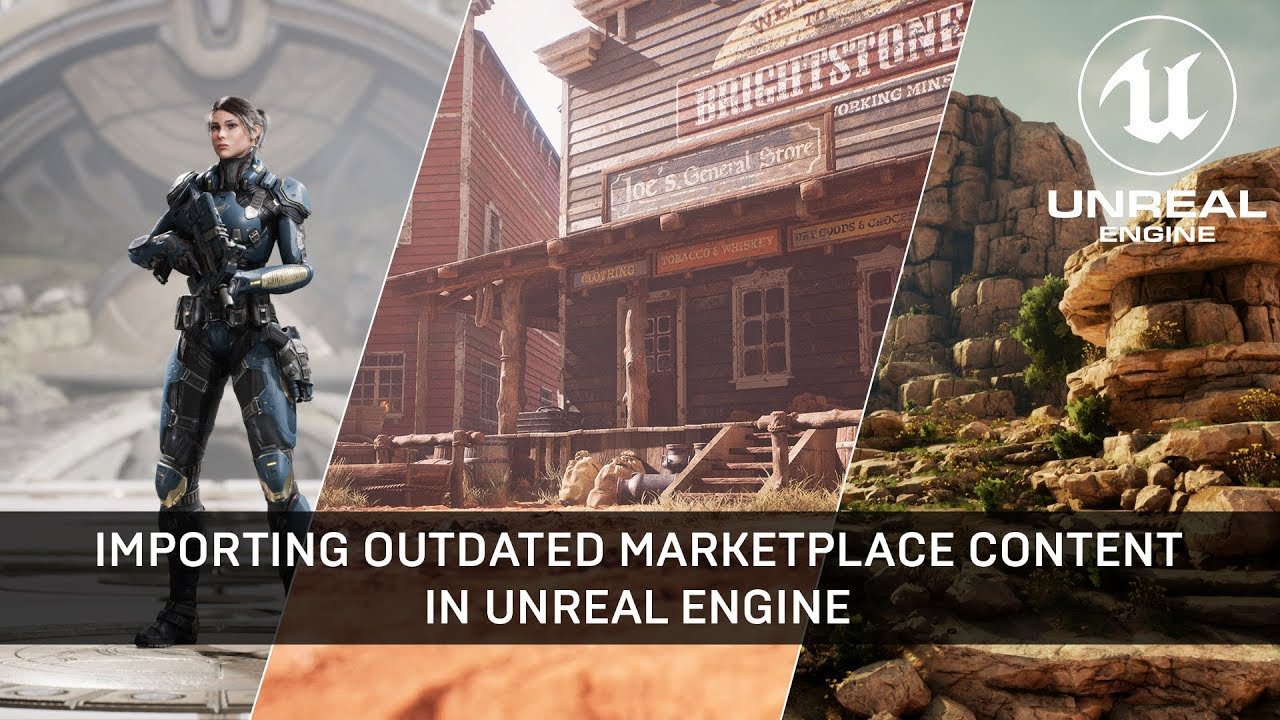 Video: Importing Outdated Marketplace Content into Unreal Engine