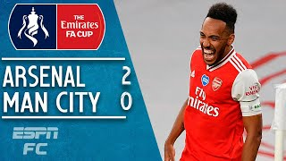 PierreEmerick Aubemeyang sends Arsenal to FA Cup final in 20 win vs. Man City | FA Cup Highlights