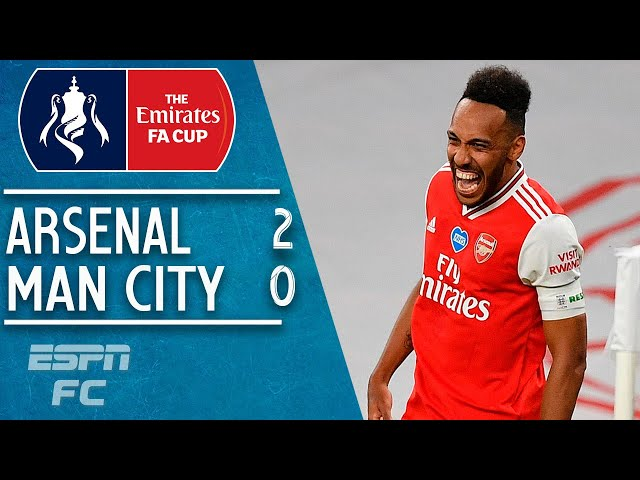 Pierre-Emerick Aubemeyang sends Arsenal to FA Cup final in 2-0 win vs. Man City | FA Cup Highlights - ESPN FC