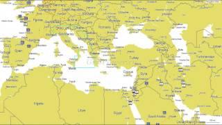 видео Карта Адриатического моря – побережье Хорватии, Италии, Черногории и Словении