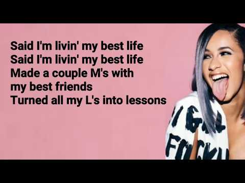 Cardi B - Best Life feat. Chance The Rapper (Lyrics)