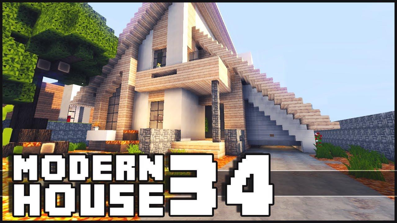 Minecraft Modern House 34 YouTube