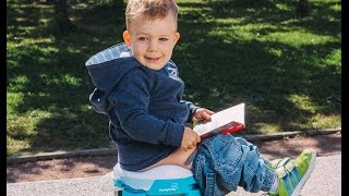 HandyPotty is the perfect mobile compact foldable potty