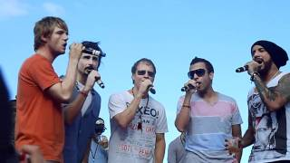 BSB Cruise 2011,Kevin joins Backstreet Boys at Beach party.