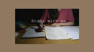 🌞 d-93 #1   같이 공부해요, Study with me !   장작 소리