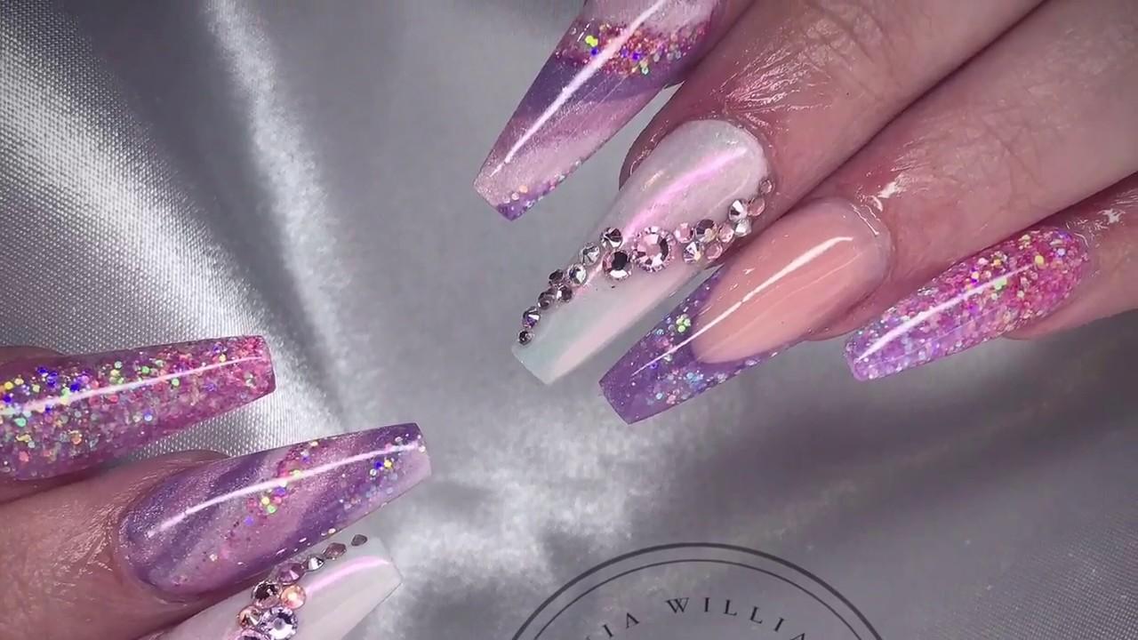 Unicorn Princess Nails Acrylic Nails Acrylic Design Youtube
