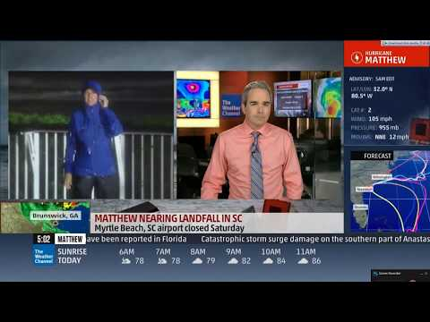 Weather Channel Live Hurricane Matthew Coverage 2016