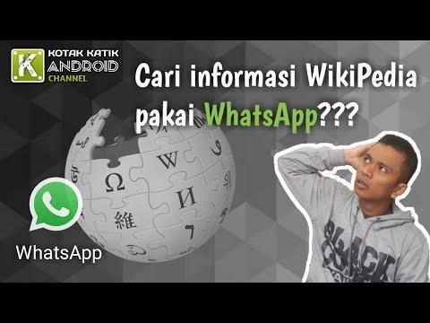 Cara Akses WikiPedia Dengan Menggunakan Aplikasi WhatApp Untuk Cari Informasi