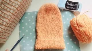Простая шапка - чулок спицами . Отзыв о пряже bianca lanalux